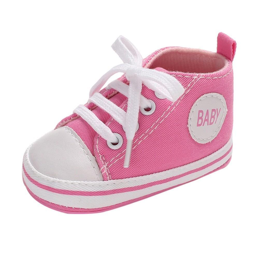 05d76eb9ee9f7 Baby Denim Hight Cut Shoe Shoes Sneaker Anti-slip Soft Sole Toddler ...