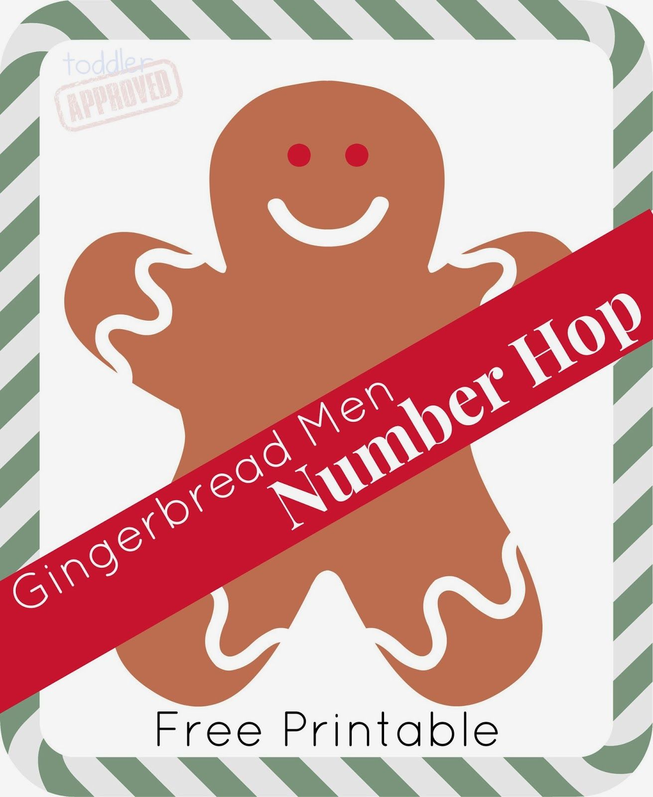 Gingerbread Men Number Hop
