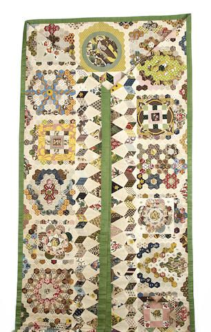 Two patchwork tester bed hangings, late 18th-early 19th century ((2))
