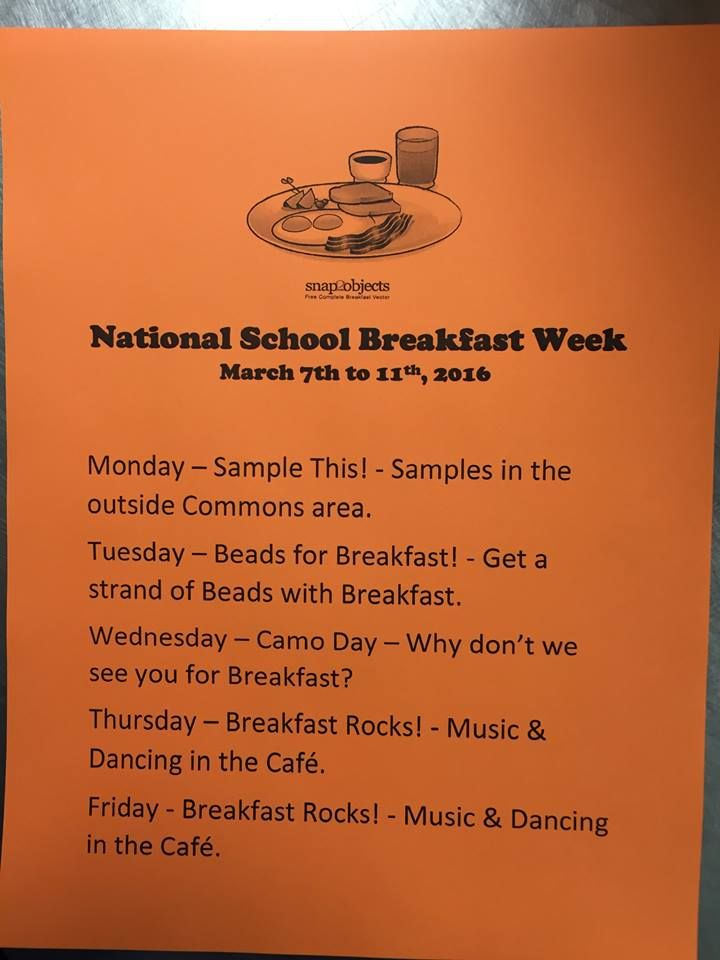 Celebrating national school breakfast week rb stewart