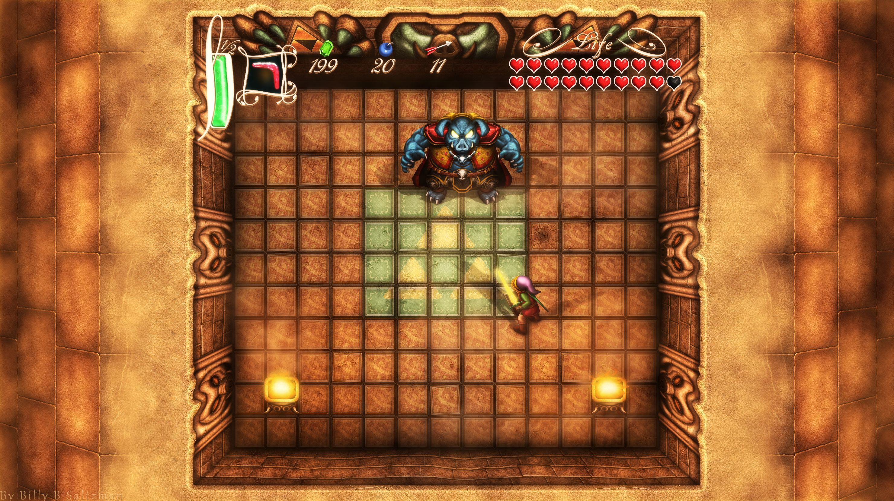 Link Vs Ganon From A Link To The Past In Hd Art By