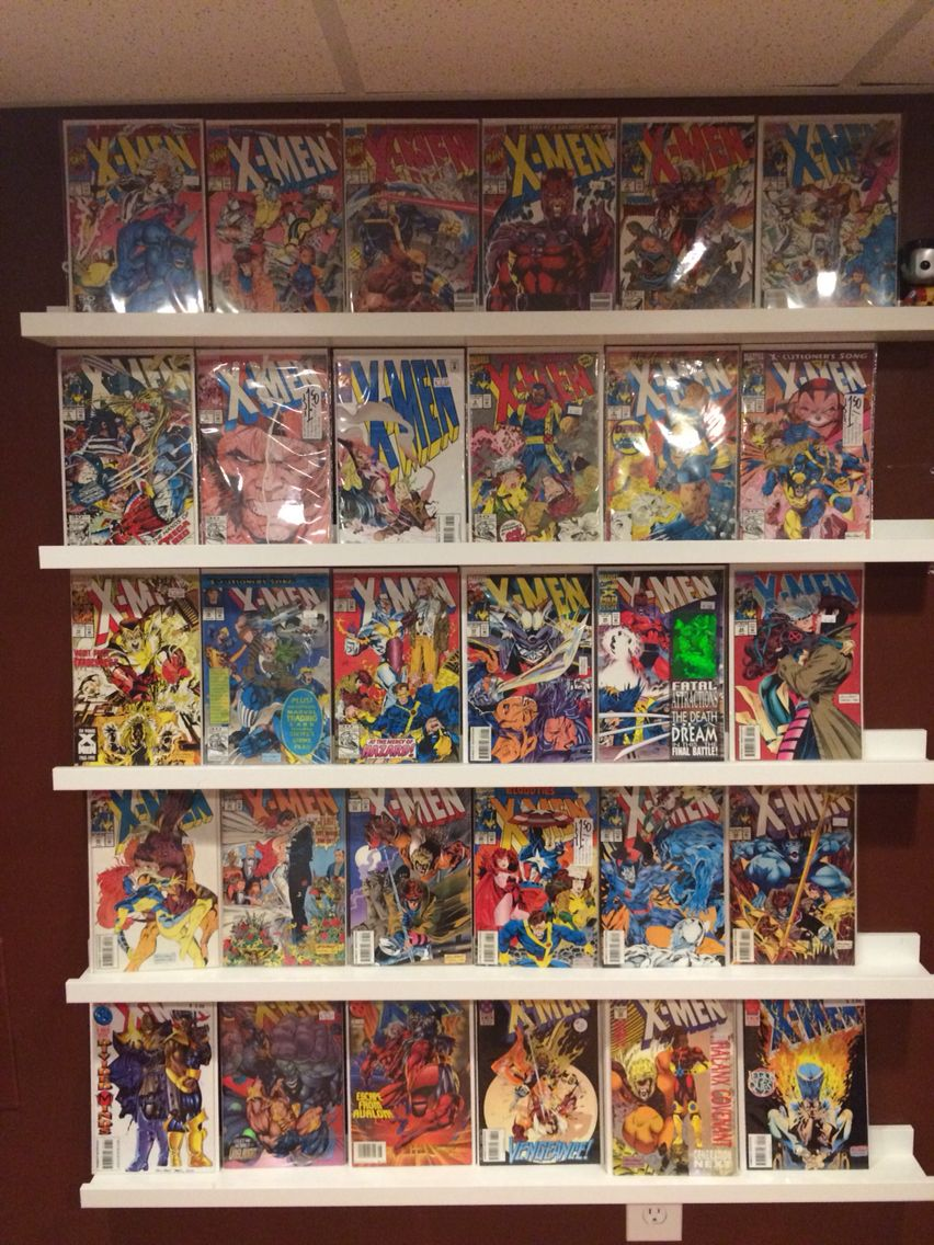 Ikea Ribba Picture Ledges Make Great Comic Book Display