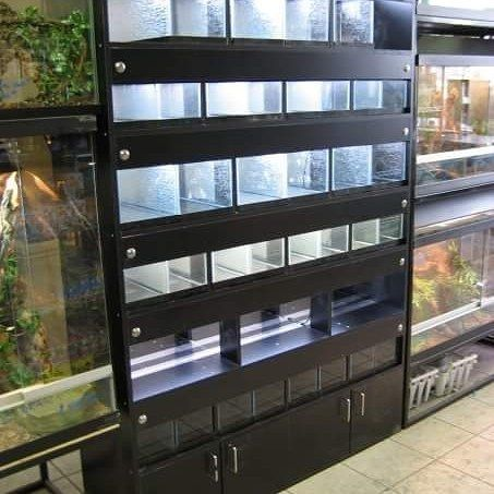Custom display wall unit for @jjreps in Calgary Alberta complete ...