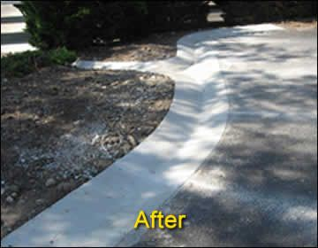 Water Drainage Swale After001 Jpg 360 280 Drainage Solutions Drainage Concrete Driveways