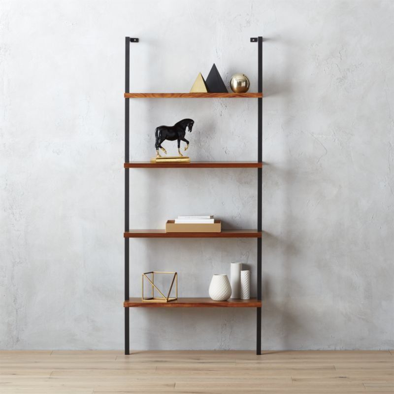 Stairway White Wall Mounted Bookshelf Reviews Bookcase Wall