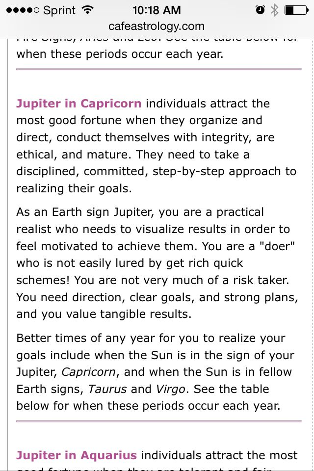 Jupiter In Capricorn Individuals Tract Good Fortune When