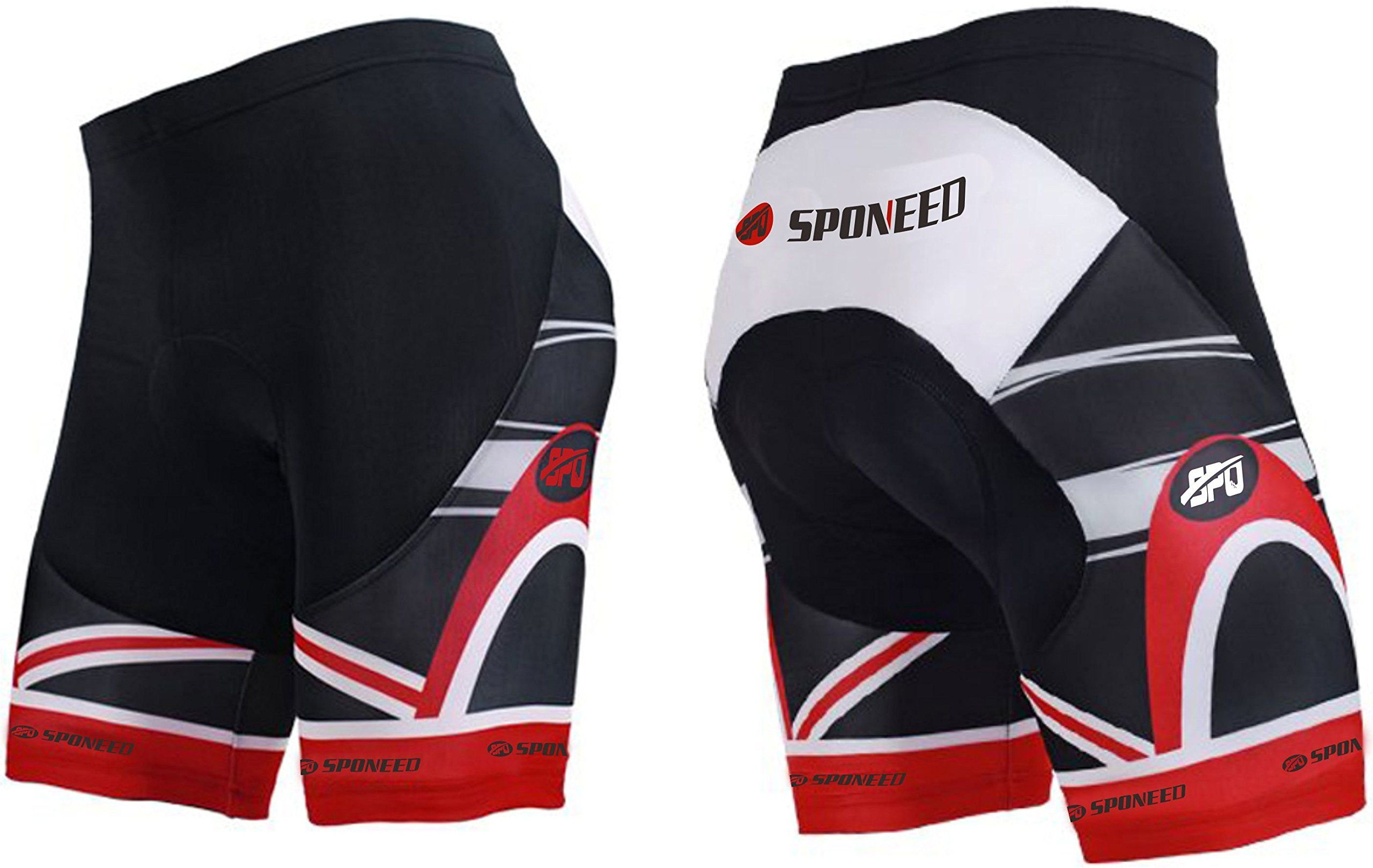 sponeed Mens Cycle Shorts Biking Pants Gel Padding Bicycle Ride Bottoms for Road Bikie MTB