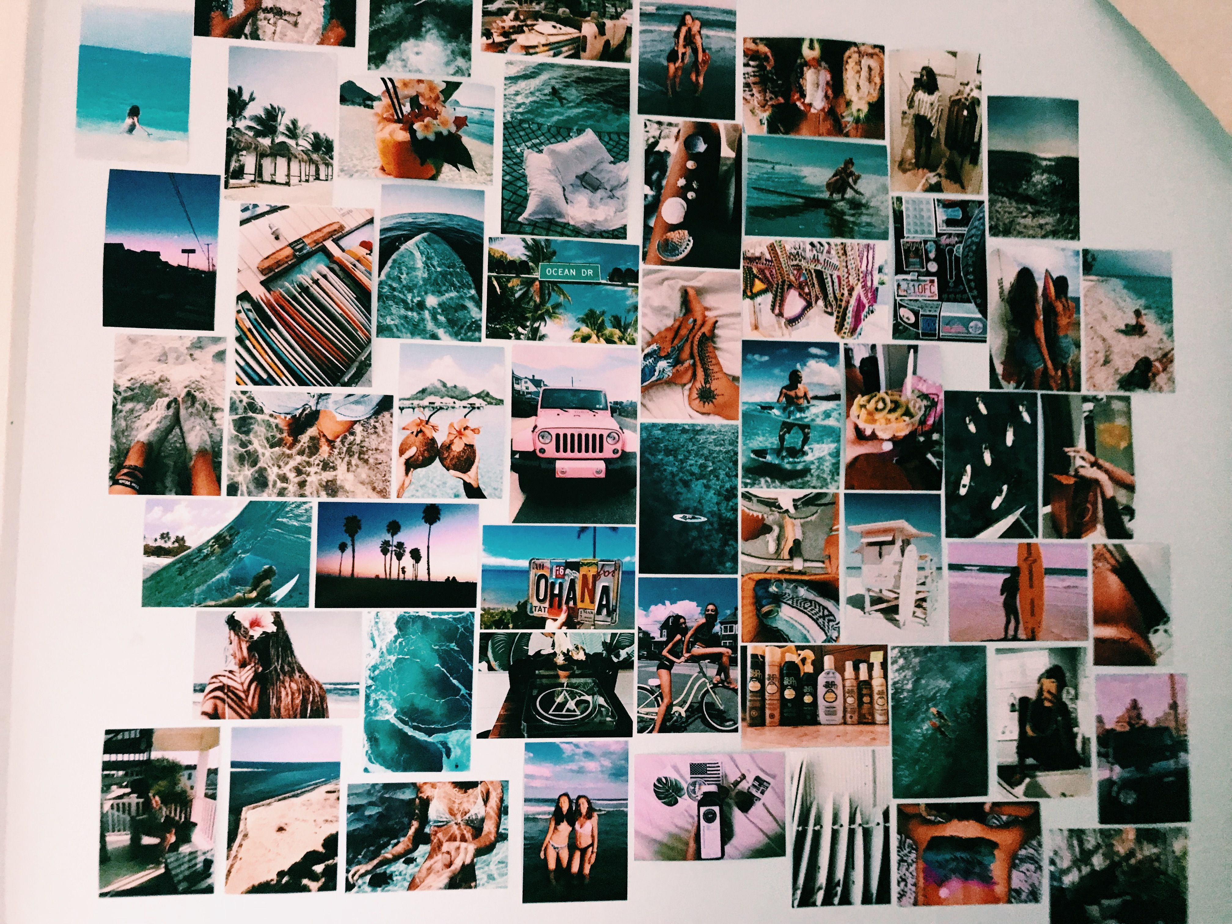 Pin By Georgie Raine On Beach Vibes Photo Walls Bedroom Surf Room Photo Collage