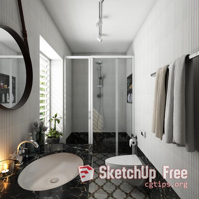 1767 Bathroom Sketchup Model Free Download | Sketchup Free