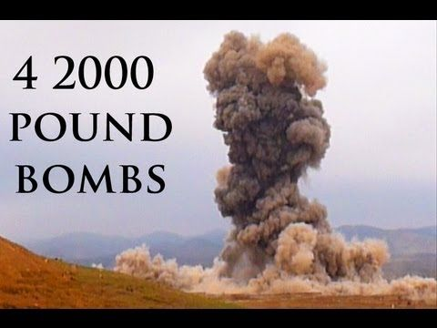 4 2000 POUND BOMBS EXPLODING IN AFGHANISTAN - YouTube