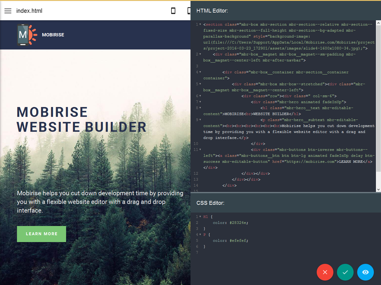 bootstrap site builder