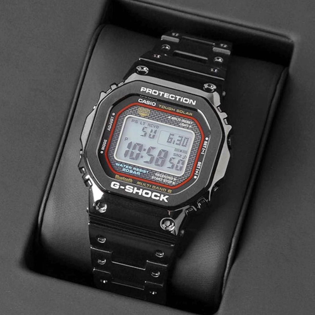 24754fd896b The GMW-B5000TFC features the traditional colors of the original DW-5000C  with a red ring around the display but now is full-metal and has…