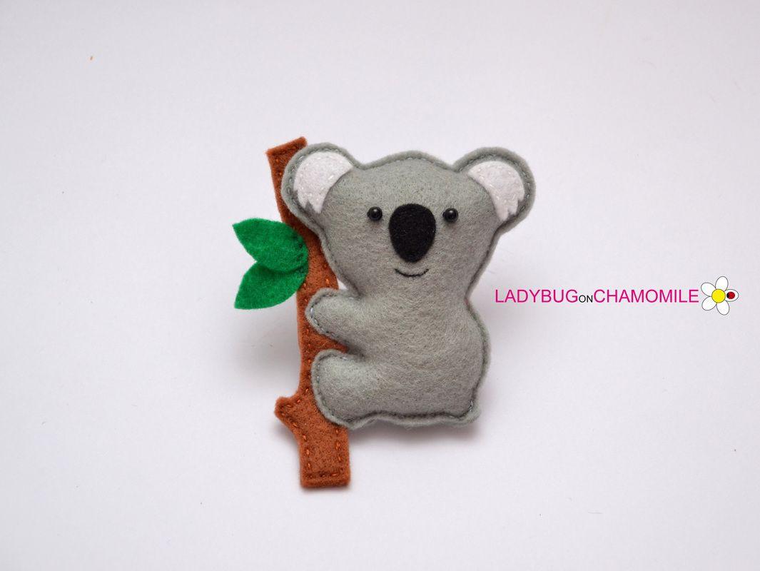 Dorable Patrón Del Oso Koala A Coser Ilustración - Manta de Tejer ...