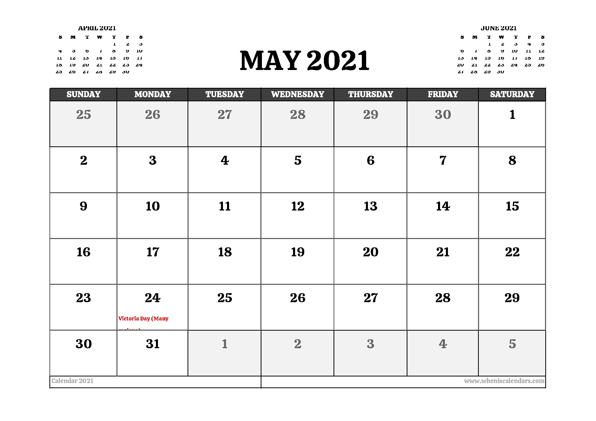 Printable May 2021 Calendar Canada In 2020 Calendar Uk 2021 Calendar Calendar Australia