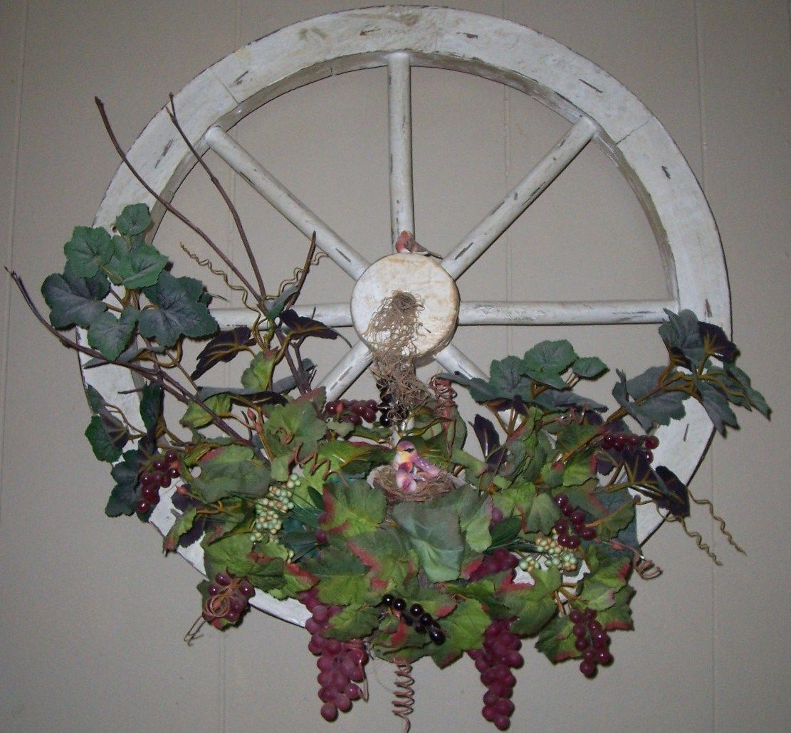 Diy Rustic Wagon Wheel Winery Decor So Easy To Make Finemomma