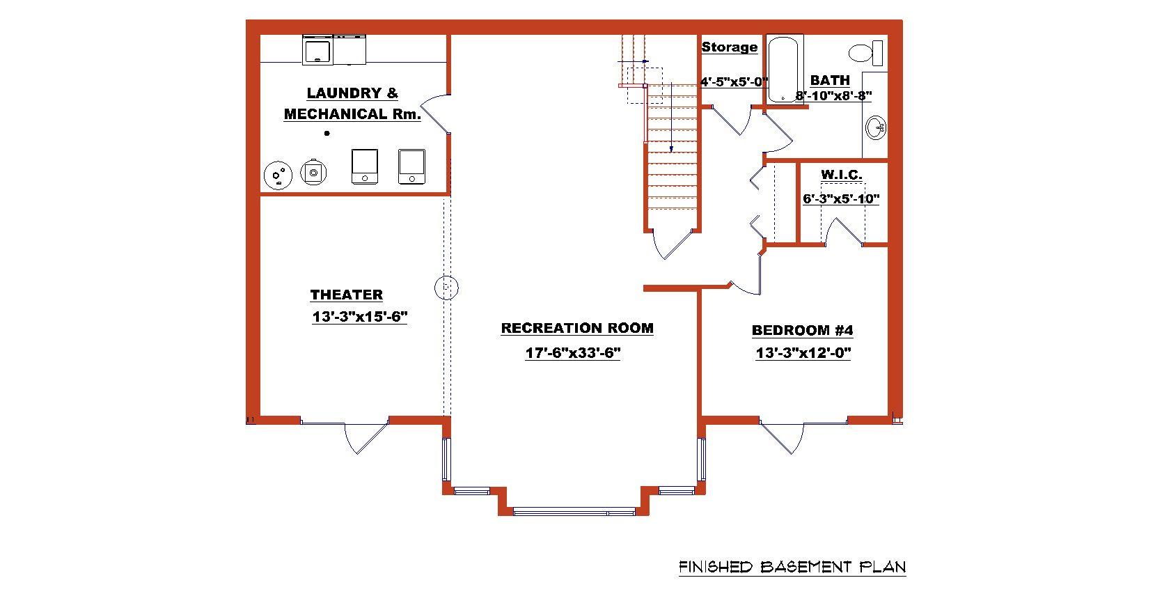 Finished Basement Plan Jpg 1659 853 Basement Remodeling Plans