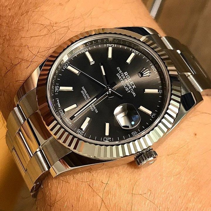 The new Datejust 41 with white gold bezel Oyster bracelet and Dark Rhodium  dial Rolex Datejust 41 ref.126334  datejust  datejust41  watchcollector ... 620cfb927f