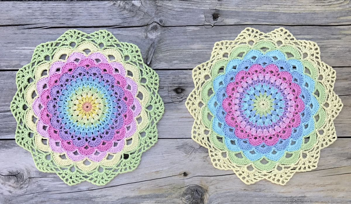 Magic Water Lily Mandala. Free pattern swedish and english.