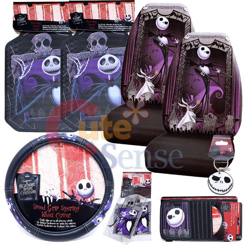 Nightmare Before Christmas Jack Car Seat Cover Auto Accessory 1