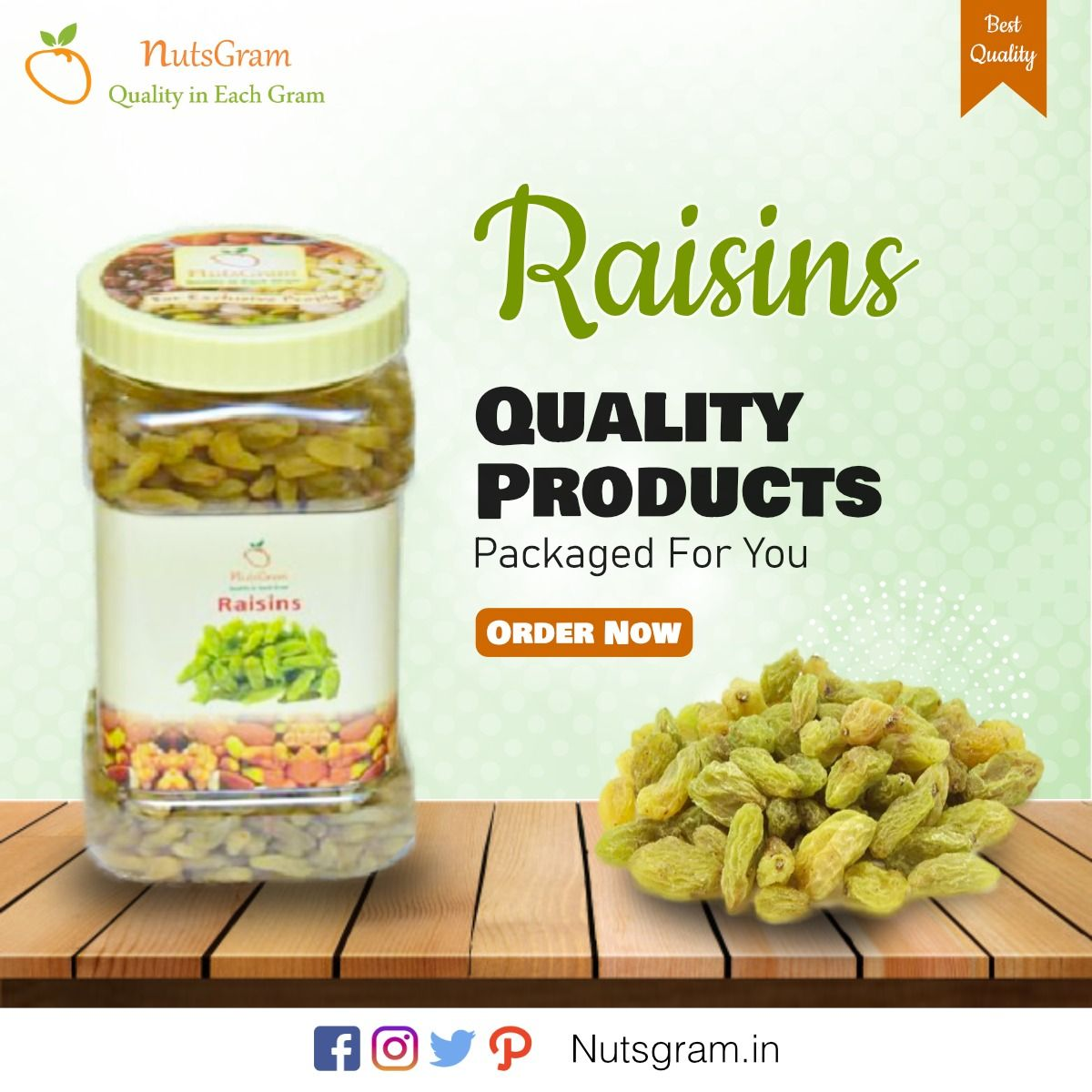 Raisins are widely used in cooking around the world. Provides high-energy supplements to mountaineers, backpackers and campers. Order at 9278271010 !! #Nutsgram #Dryfruits #Premiumquality #Driedfruits #Snacks #Cooking #Mountaineers #Backpackers #Campers #Foodsuplements #Cashondelivery #Raisins #GoldenRaisns #GreenRaisins #BlackRaisins #DryFruitsShop #DryFruitseller #Nuts #DryFruitsOnlineShop