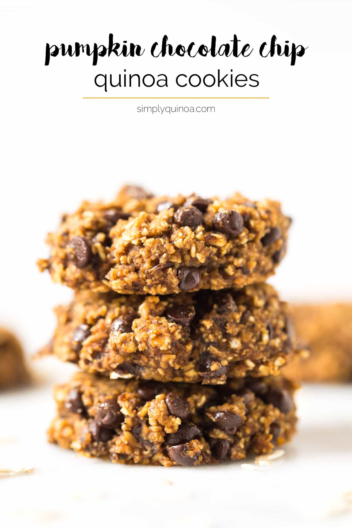 Pumpkin Chocolate Chip Quinoa Cookies - Simply Quinoa