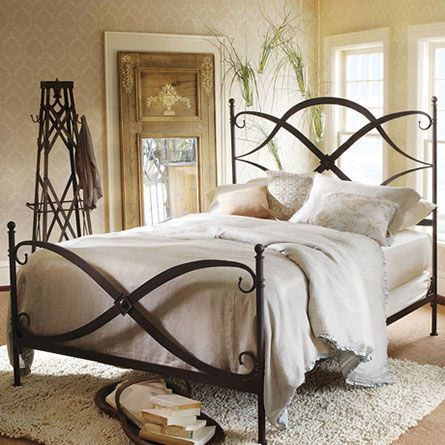 St Lucia Queen Iron Bed In Rust Quality Bedroom Furniture Home