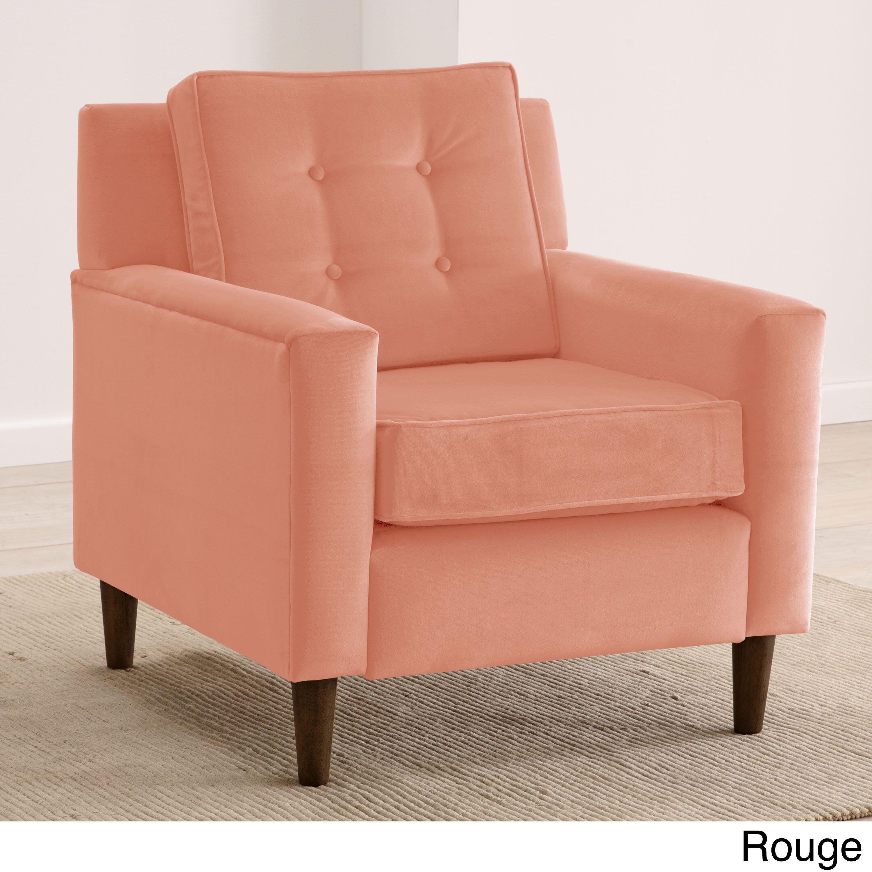 Best Skyline Furniture Velvet Upholstered Tufted Accent Chair 640 x 480