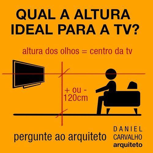 Qual A Altura Ideal Para A Tv Altura Tv