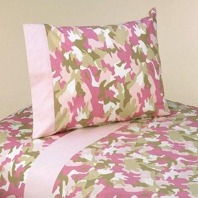 Pink Camo Bed Sets Sweet Jojo Designs Pink Camo Twin