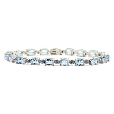 jcp | Genuine Blue Topaz & Diamond-Accent Tennis Bracelet