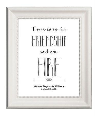 Look at this #zulilyfind! 'True Love Is Friendship' Personalized Poster by Bright Design Studios #zulilyfinds