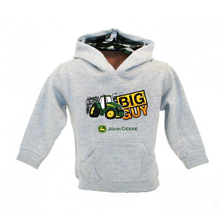 Infant Boy's Big Guy Gray Hoodie | RunGreen.com | John Deere Kid's ...