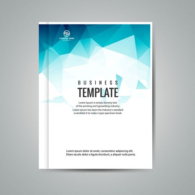 blue polygonal business booklet free vector visiting card