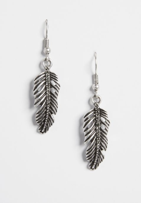 Maurices Feather Earring Trio Set GHonqTRbK