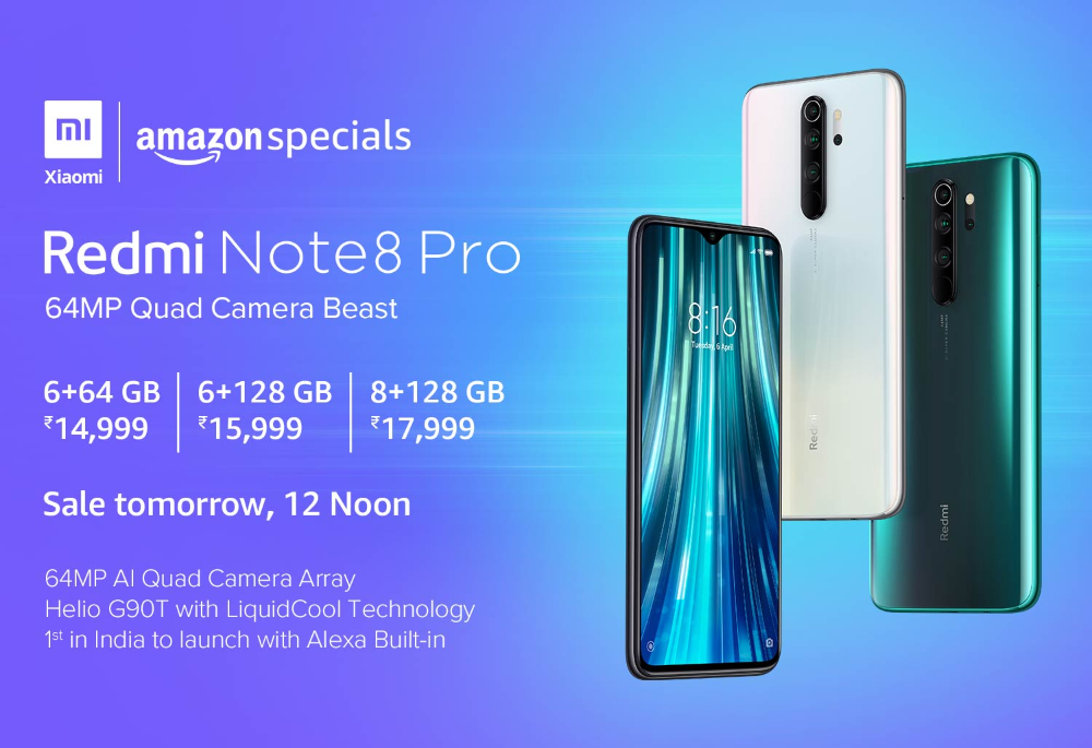 Amazon.in Redmi Note 8 Pro Xiaomi, Note 8, Product launch