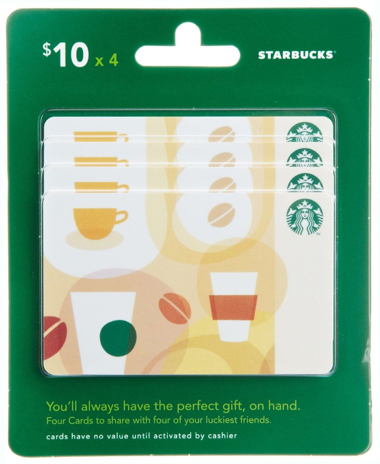 starbucks gift cards multipack of 4 10 gift cards where can i buy an amazon. Black Bedroom Furniture Sets. Home Design Ideas