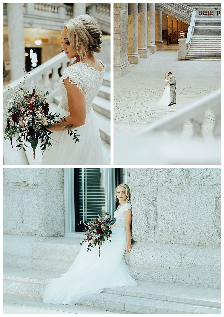 Utah State Capitol | Markova Modest Wedding Dress | Modest Wedding ...