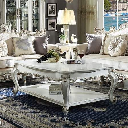 Admirable Acme Furniture Acme Picardy Coffee Table With Wooden Top Machost Co Dining Chair Design Ideas Machostcouk