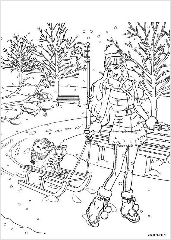 barbie coloring pages on coloring book info | Barbie Christmas | Cute coloring pages, Disney coloring ...