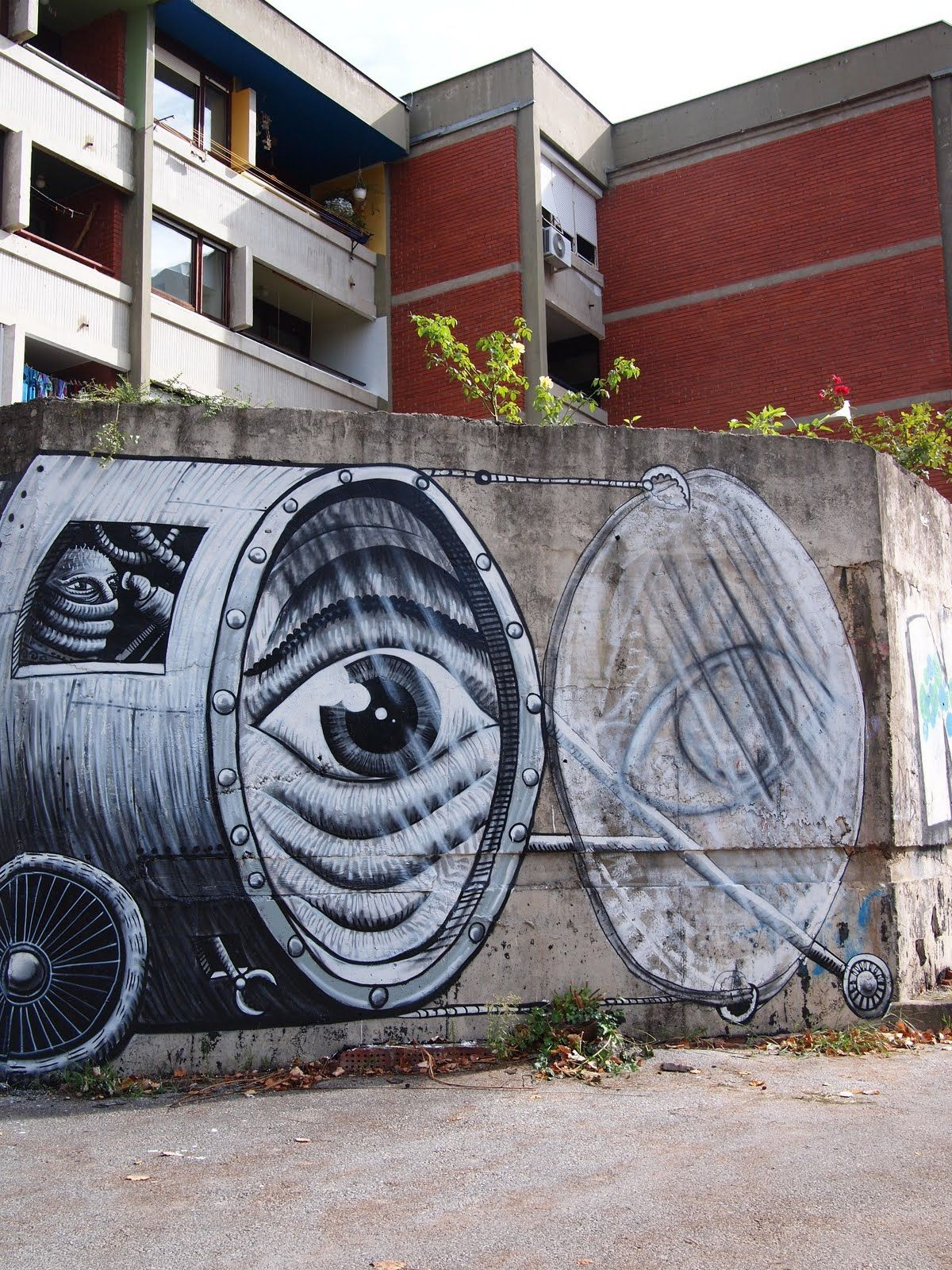 Graffiti wall zagreb - Phlegm Calibrating The Seeing Device New Mural In Zagreb Croatia