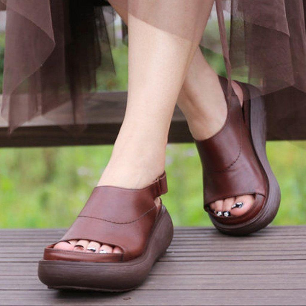 Summer High Heels Platform Women Wedges Sandals Shoes