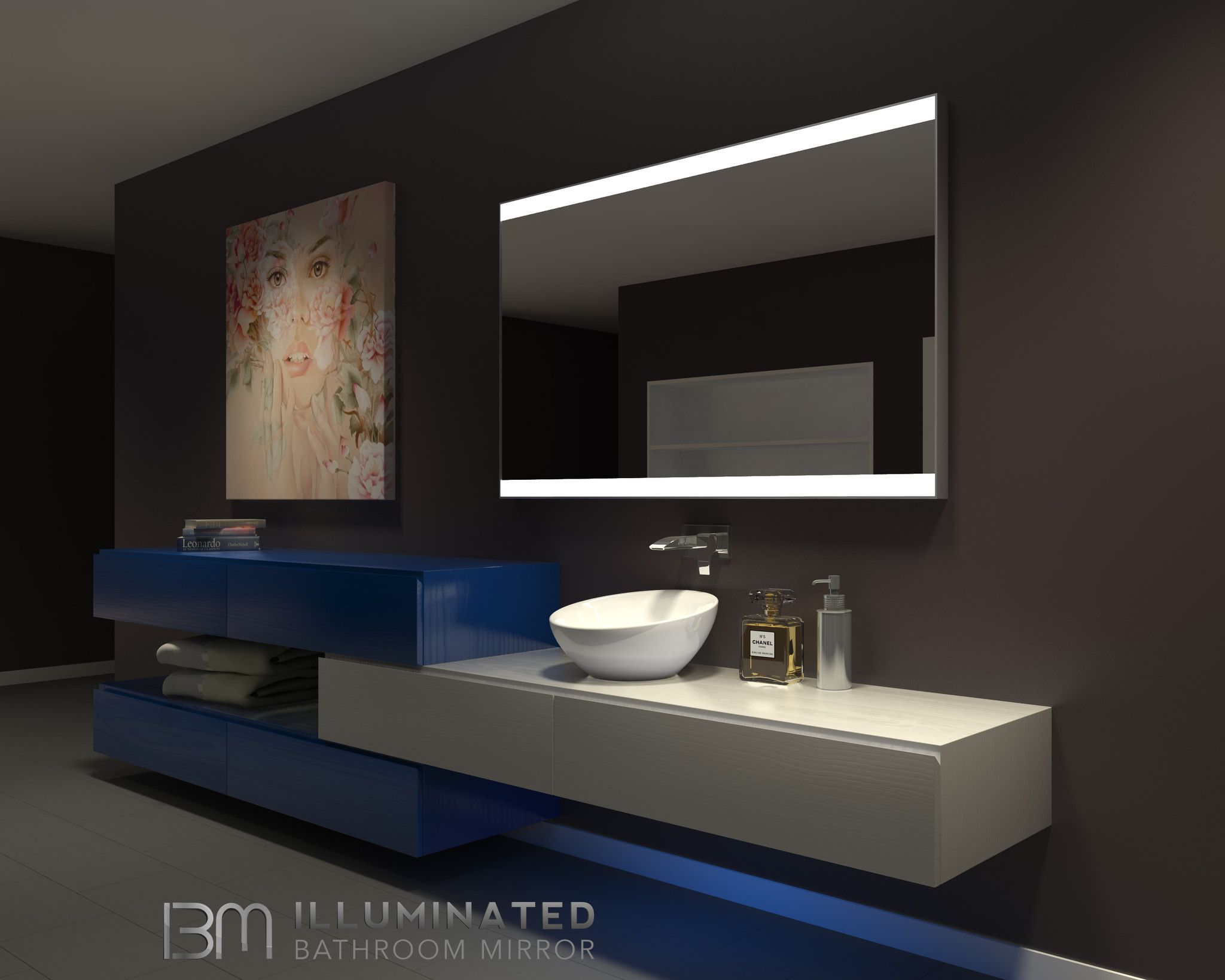 vanity mirror 36 x 60. Dimmable Lighted mirror Galaxy 60 X 36 II  Led strip and Products