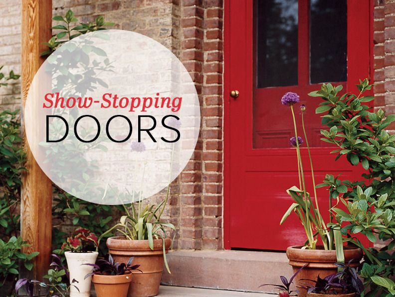 show-stopping doors  on domino.com