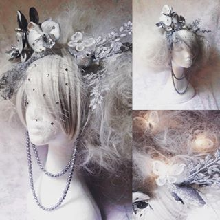Beautiful, unique, custom made fairy, forest nymph, Marie Antoinette inspired embellished with with LED butterflies from Late Night Boutique