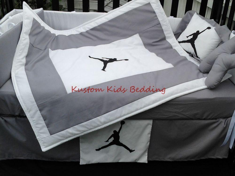 Custom New Michael Jordan Crib Bedding Set 7 Pieces In
