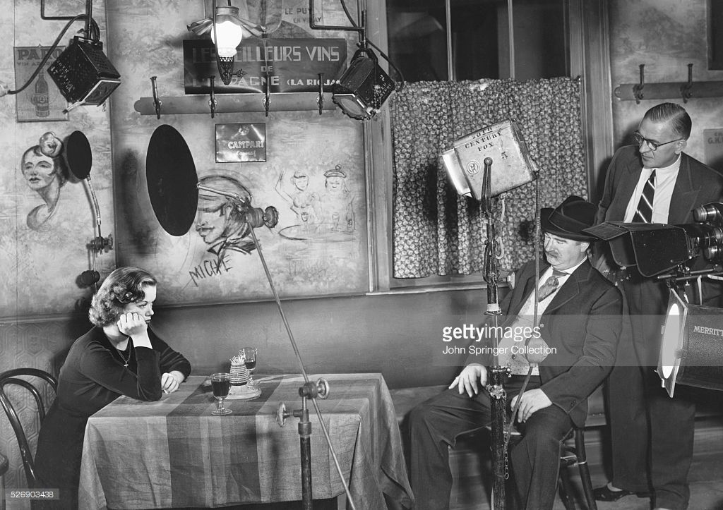 Director Henry King with Simone Simon on the set of Seventh Heaven, 1937.