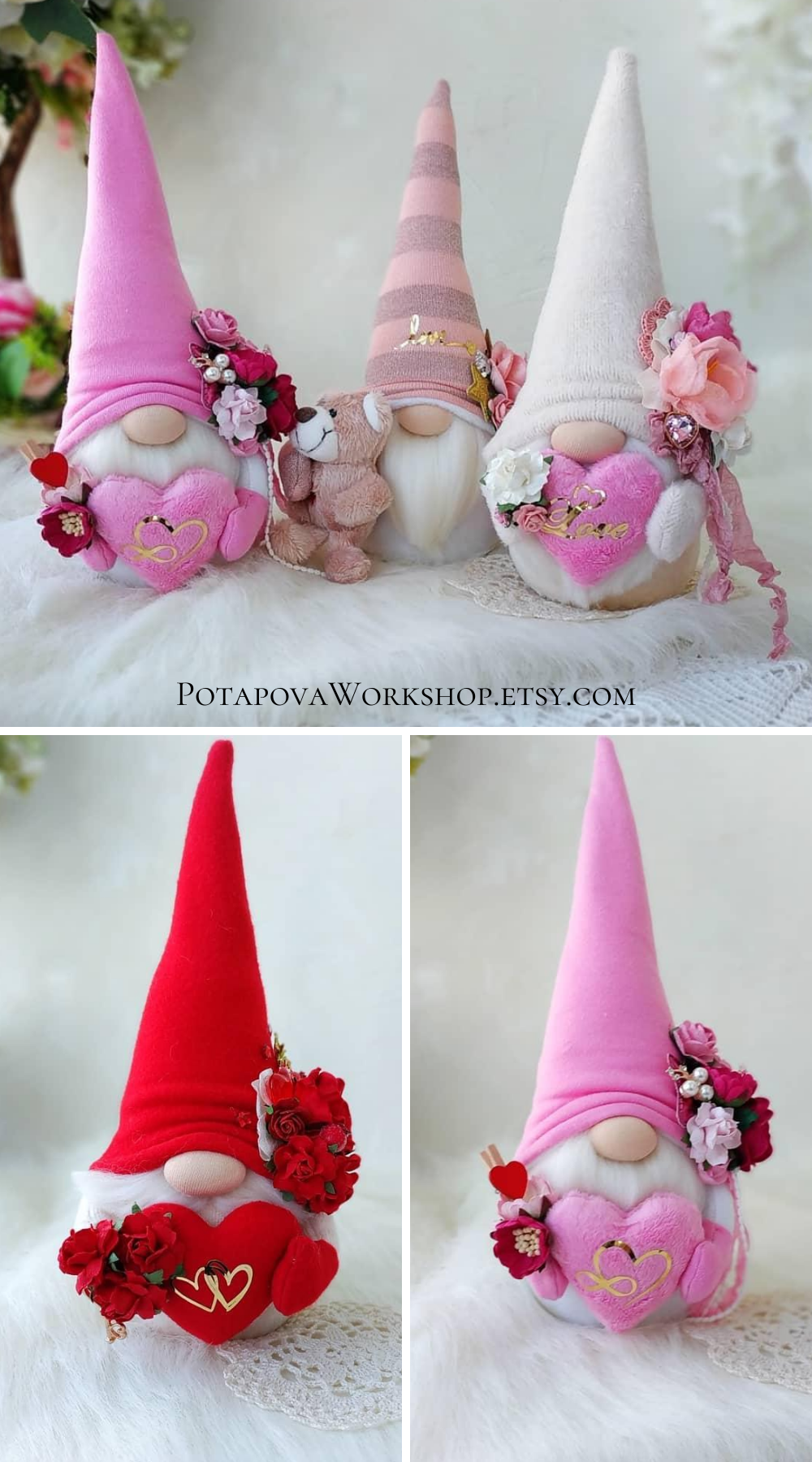 Flower gnomes | Sweetheart gnomes | Etsy