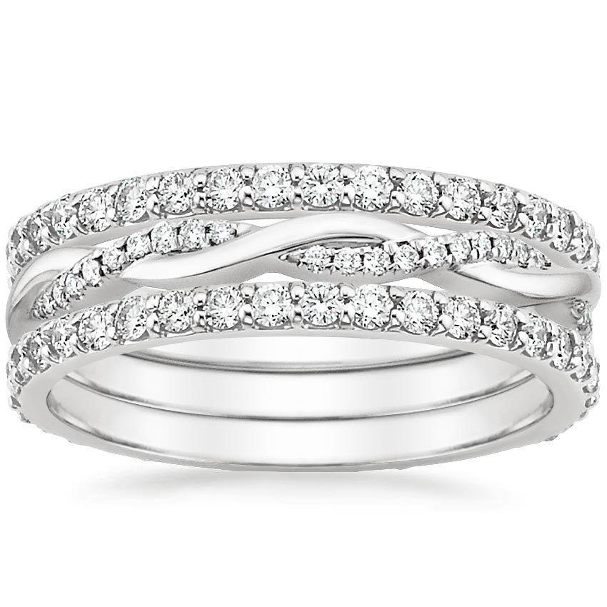 Vine diamond wedding bands