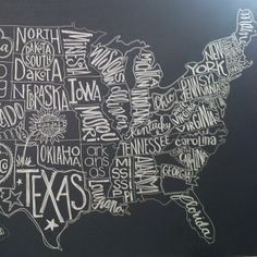 chalkboard map of the world - Google Search