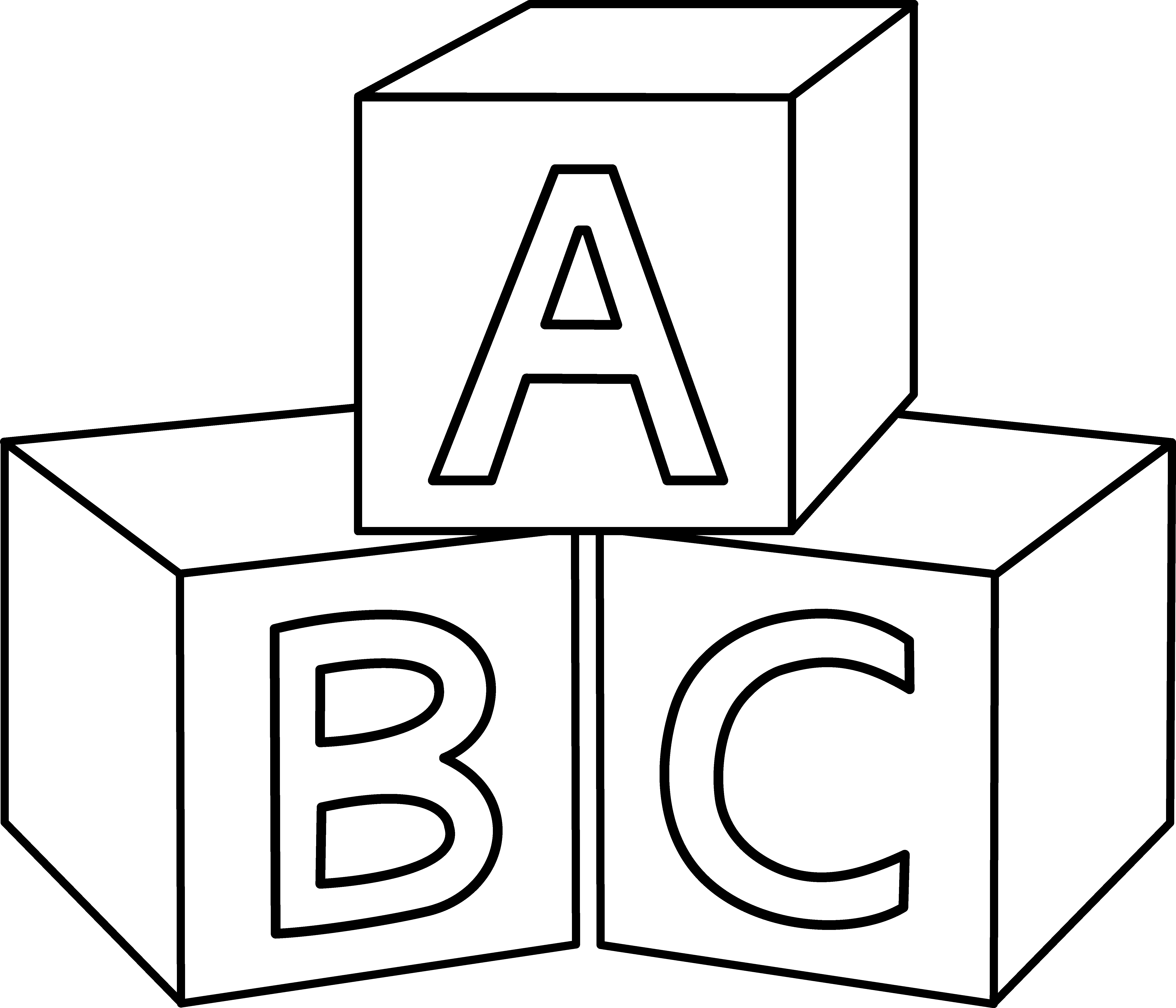 Abc Blocks Design Coloring Pages For Kids Abc Coloring Pages Coloring Pages